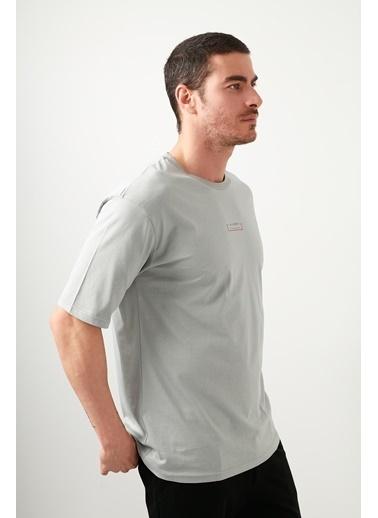 Buratti Buratti Oversize Erkek T-Shirt 5721016 Gri